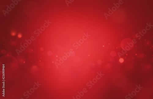 Valokuvatapetti Christmas background red holiday abstract light bokeh and glitter Abstract with
