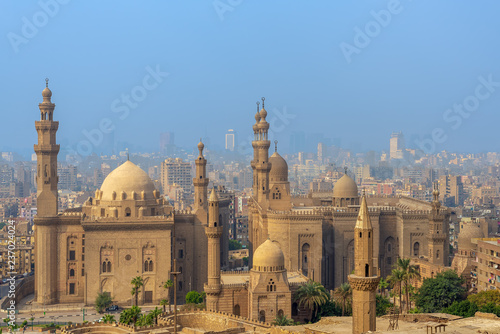 Aerial view of Cairo city from Salah Al Deen Citadel (Cairo Citadel) with Al Sul Poster Mural XXL