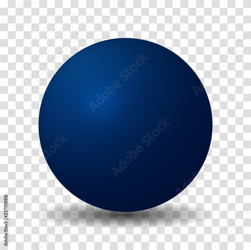 Wallpaper Mural Blue Sphere Ball