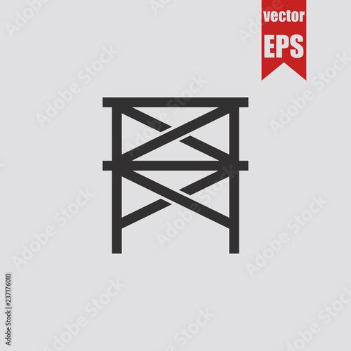 Photo Scaffold icon.Vector illustration.