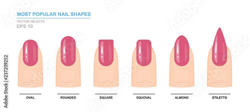 Fotografija Most popular nail shapes