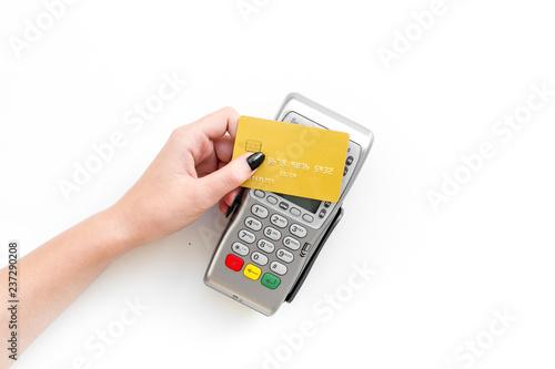 Obraz na płótnie Pay by payment terminal
