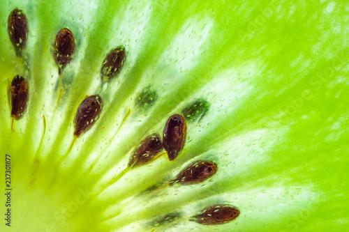 Fototapeta Fresh kiwi fruit slices closeup macro texture background
