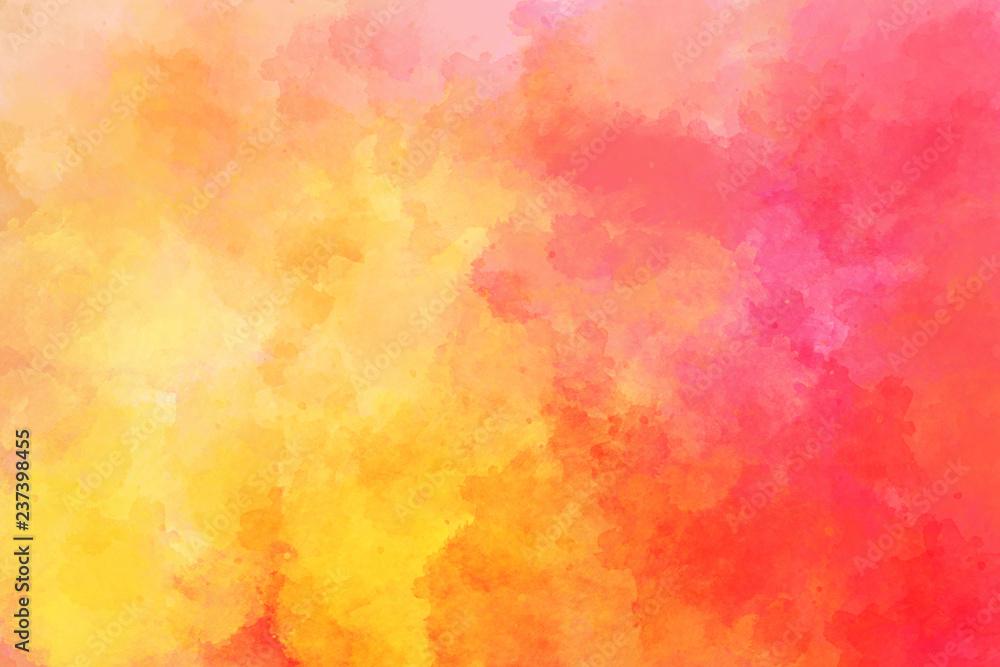 Obraz Orange watercolor background fototapeta, plakat