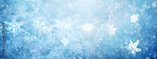 Fotografia Snow in winter close-up