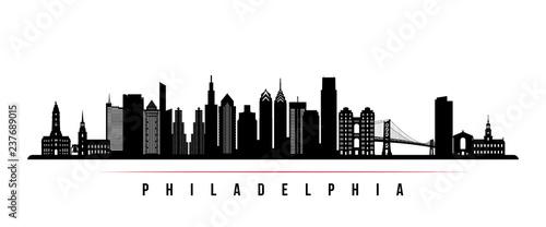 Obraz na płótnie Philadelphia city skyline horizontal banner