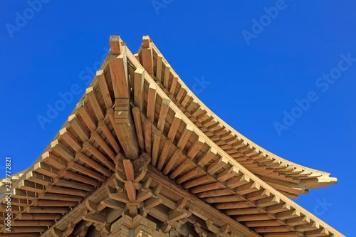 Obraz na plátne pavilion angle wooden eaves