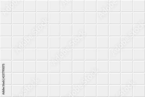 Obraz na plátně White horizontal background with tiles. Vector seamless pattern.