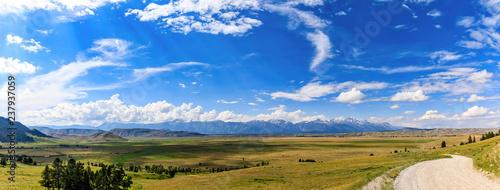 Fotografia Panorama, Curtis Canyon, Elk Range, WY