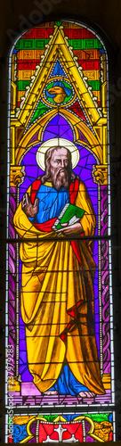 Fotografie, Obraz Saint John Gospel Writer Stained Glass Baptistery Cathedral Pisa Italy