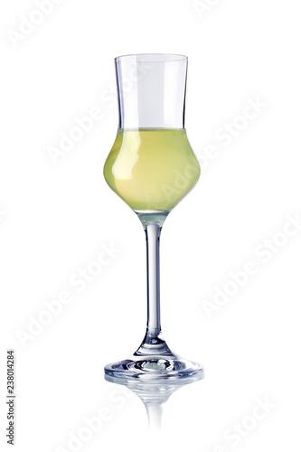 Obraz na płótnie glass of limoncello liqueur isolated
