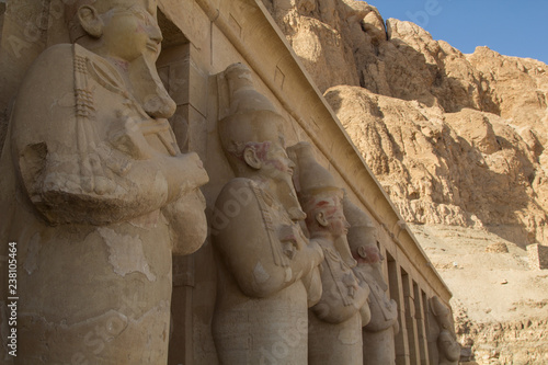 Fotografia The Mortuary Temple of Hatshepsut, also known as the Djeser-Djeseru, is one of t