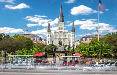 Stampa su Tela St. Louis Cathedral in New Orleans, LA