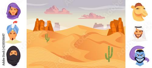 Fotografie, Obraz Arab characters vector
