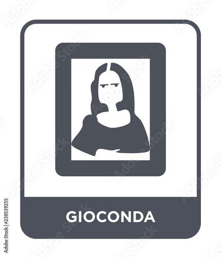 Fotografie, Tablou gioconda icon vector