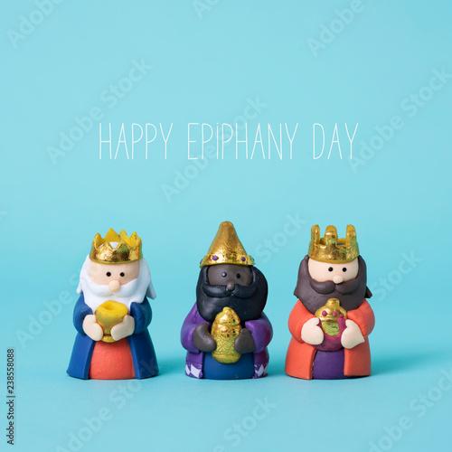 Photo the magi and the text happy epiphany day