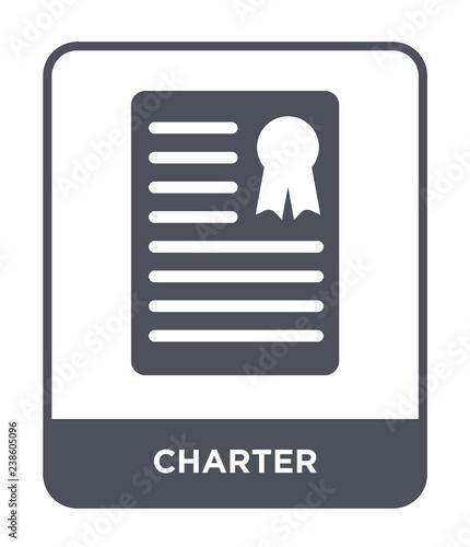 Fotografia charter icon vector
