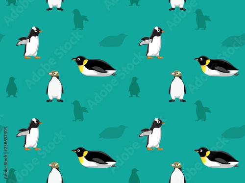 Fototapeta premium Tapeta Pingwin Ptak 7
