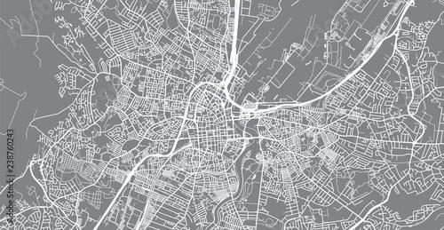 Urban vector city map of Belfast, Ireland Fototapeta