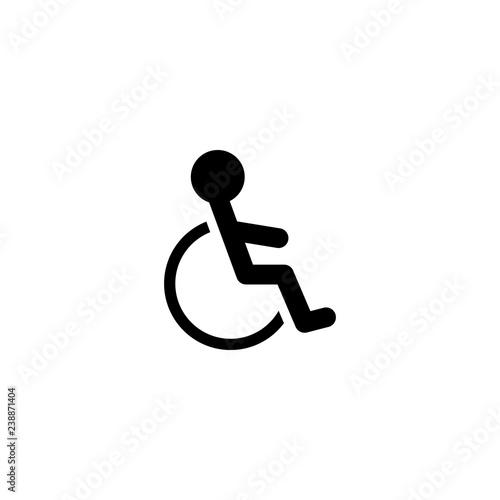 Canvastavla cripple vector icon