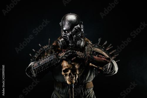 Obraz na plátně Post apocalyptic warrior