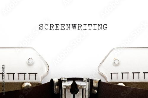 Screenwriting Vintage Typewriter Concept