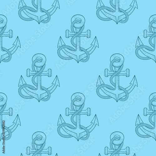 niebieski-szkic-jako-wzor-kotwicy-z-lina
