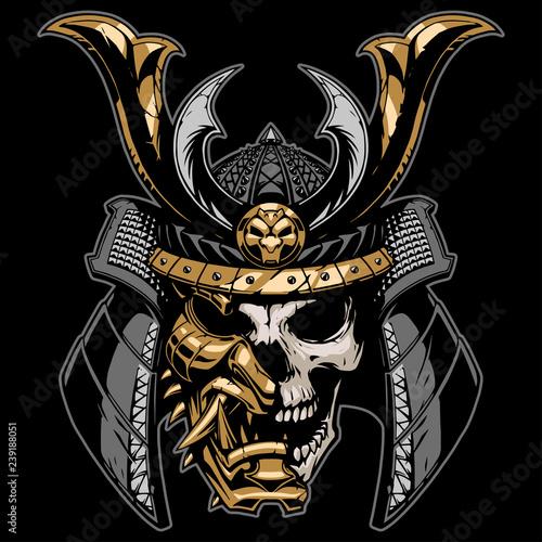 Photo Samurai skull illustration