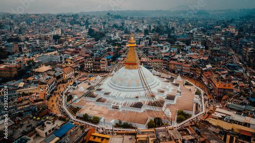 Canvas Print Stupa Bodhnath Kathmandu, Nepal - October 12, 2018