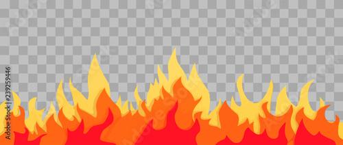 Fotografie, Obraz Cartoon fire flame frame