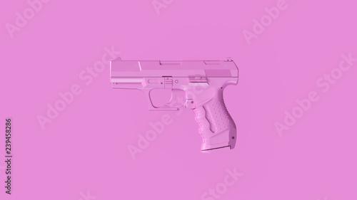 Valokuva Small Pink Modern Hand Gun 3d Illustration 3d Rendering