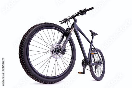 mountain bike against a white background