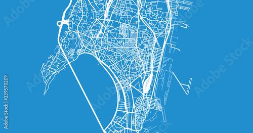 Obraz na plátně Urban vector city map of Mumbai, India