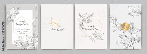 Fotografia, Obraz Wedding Invitation, floral invite thank you, rsvp modern card Design in golden r