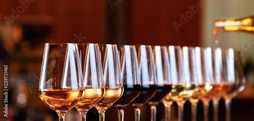 Fotografia, Obraz Wine glasses in a row