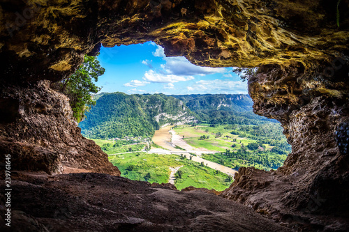 Tela Cueva Ventana natural cave in Puerto Rico