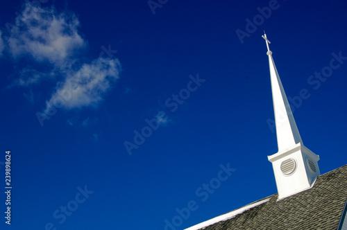Canvas Print Church steeple