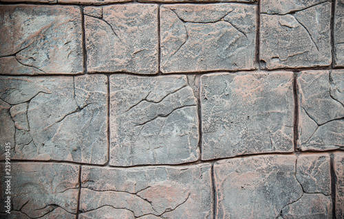 Wallpaper Mural pattern stone wall / texture brick old  cement background - stone block