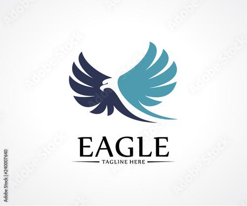 Fototapeta premium Eagle Bird logo projekt wektor koncepcja, szablon logo ptak