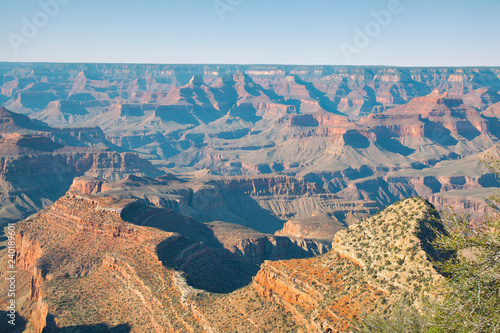 Fototapeta view of the colors of the  Grand Canyon from Grandview point  lookout