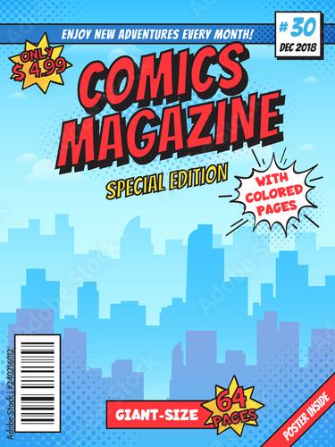 Fotografija Comic book cover page
