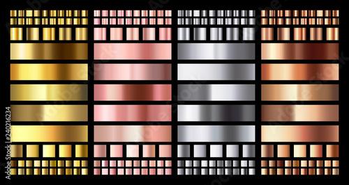 Fényképezés Elegant metallic gradient