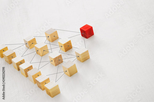 Canvas Print abstract photo of connectivity concept, Linking entities, Hierarchy and HR