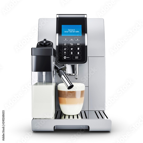Canvastavla Modern automatic coffee machine.  Front view.