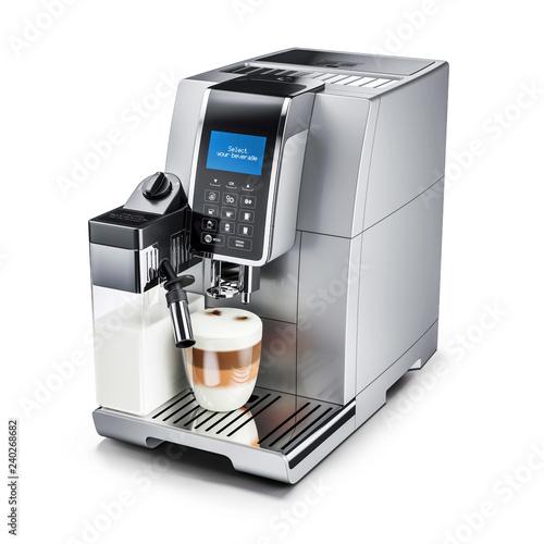 Fotografiet Modern automatic coffee machine. 3d