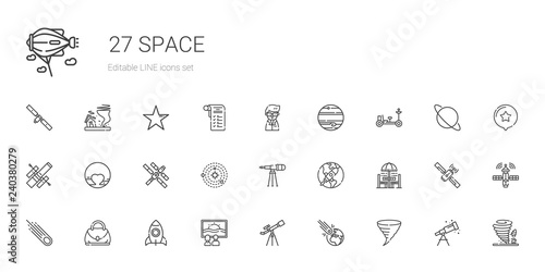 Fotografia space icons set