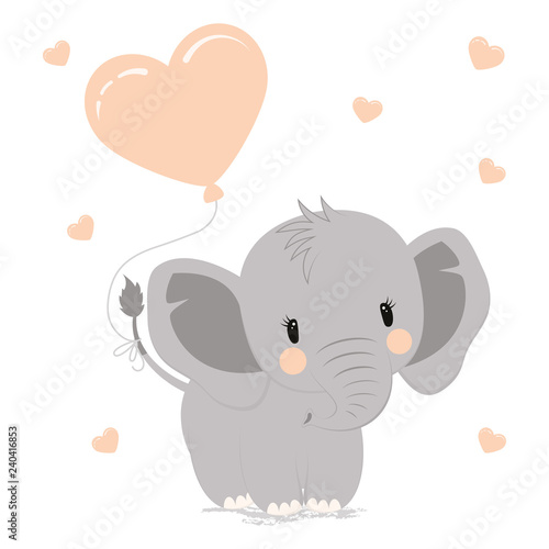 Fototapeta premium słoń z sercem