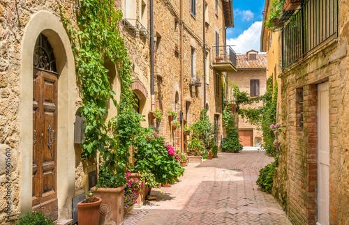 Obraz na płótnie Scenic sight in Pienza, Province of Siena, Tuscany, Italy.