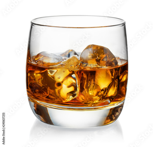 Wallpaper Mural Glass of whiskey and ice