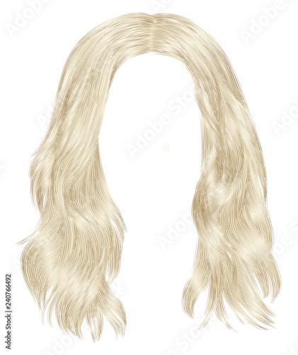 Obraz na płótnie trendy woman long hairs blond colors
